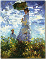 Woman with a Parasol by Claude Monet - Hand Painted Oil Painting On Canvas