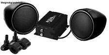 BOSS AUDIO Black Motorcycle ATV Sound System w/ 3-inch Weather Proof Speakers