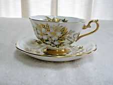 Vintage Royal Albert Cup and Saucer Bone China Cherry Blossoms Gold Trim