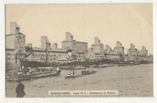 Buenos Aires Dique No.2 Elvadores de Granos Argentina Vintage Postcard US033
