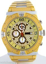 Aqua Master Men's Brown Chrono Dial Stainless Steel Diamond Quartz Watch W345-d