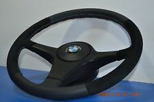 BMW Sports Steering Wheel  E30 E28 E24 E32 E34 Leather+alcant Fine spline m tech