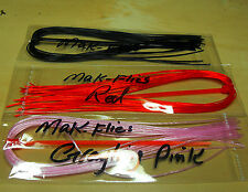 mak's Quality Fly Tying Spanflex / Flexi Floss Essential Colours, ( Set of 3 )