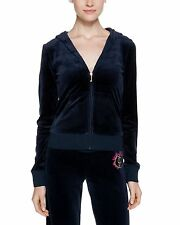 NWT Juicy Couture Velour Original Hoodie, Regal navy,Small, $138