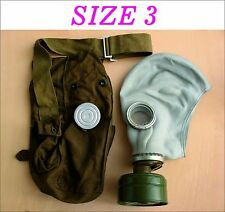 Military soviet russian gas mask GP-5. SIZE-3. FULL SET. Grey