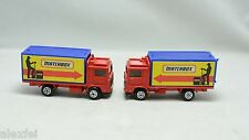 Matchbox Volvo Container Truck MATCHBOX LIVERY.1/90 Scale LOT OF 2 PCS