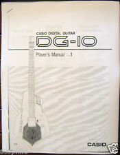 Casio DG-10 Digital Guitar Synthesizer Owner's User's Operating Manual Booklet