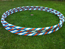 "ADULT 38"" ORANGE & WHITE HULA HOOP+ HOOLA TEACHING EBOOK"