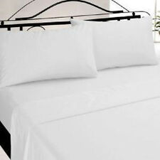 3 NEW QUEEN SIZE WHITE HOTEL FITTED  SHEET T200 PERCALE HOTEL 60X80X9  WHITE