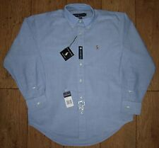 "Bnwt Autentico Ralph Lauren Oxford Yarmouth Camicia Abito 14.5 ""SMALL BUTTON DOWN"