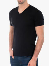 Men's Gem Rock Solid Black V-Neck T-Shirt Size 3X-Large Lot of (3) Brand New!