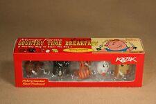 Frank Kozik SIGNED Kidrobot Monger Farms Country Time Breakfast 5 Pack *RARE*