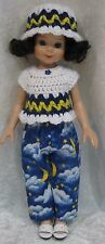 """BETSY McCALL 14"""" Doll Clothes #50 Hat, Top & Pants Set  13"""" LES CHERIES Corolle"""