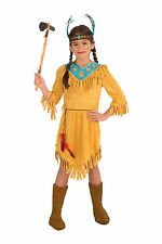 Kids Native American Girl Costume Sacagawea Pocahontas Size Medium 8-10
