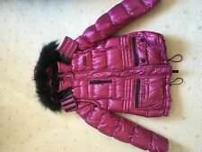 BNWOT Burberry down jacket with fur trim hood Made in Thailand Med AUD$1650