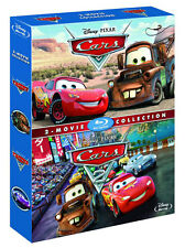 CARS 1 & 2 [Blu-ray Box Set] 2-Movie Collection Disney Pixar Lightning McQueen
