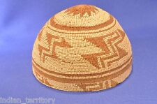 Antique California Hupa Indian Basketry Child's Hat / Cap c.1915 Mint condition