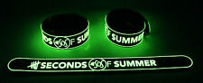 5 Seconds of Summer  Glow in Dark Rubber Bracelet Wristband She Looks So Perfect