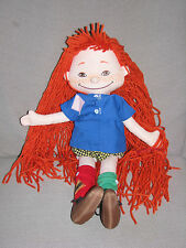 PIPPI LONGSTOCKING SOFT STUFFED CLOTH DOLL FROM ASTRID LINDGREN BOOK SOFTTOYS