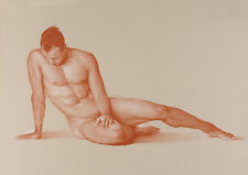MALE NUDE in Terracotta Limited Edition GAY ART INTEREST PRINT. FITS IKEA FRAMES