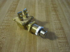 VINTAGE DASH PANEL ALL BRASS TRACTOR START BUTTON SWITCH RAT HOT ROD WOOD BOAT