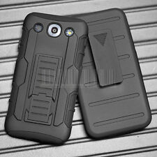 Shockproof Armor Hybrid Rugged Holster Case Cover For LG Optimus G Pro E980 F240