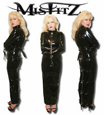 MISFITZ PVC HOBBLE STRAIT JACKET PADLOCK RESTRAINT DRESS ALL SIZES 8-32 /CUSTOM