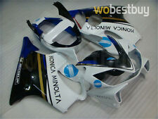 White Blue Injection Fairing Plastics For Honda 2001 2002 2003 CBR600 F4i aA1