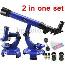 Telescope Microscope Kit Set Science Nature Astronomy Kids Educational Toys USA