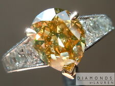 1.74ct Orange Vintage Style Pear Diamond Ring GIA R6710 Diamonds by Lauren