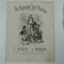 antique songsheet UN DEJEUNER SUR L`HERBE hubert & boissiere 1860