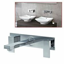 """Ducato"" Chrome Wall Mounted 3 Hole Basin Mixer - Designer Bathroom Taps"