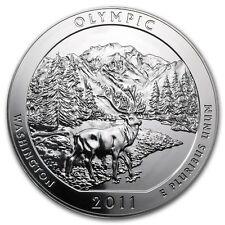 5 oz 999 Silbermünze Silber ATB Olympic National Park 2011 US Mint NEU Selten
