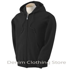 MEN WOMEN UNISEX SOLID FULL ZIP UP HOODIE SWEATSHIRTS HOODED ZIPPER SIZE S-5XL