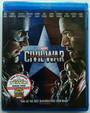 NEW SEALED MARVEL CAPTAIN AMERICA CIVIL WAR BLU RAY FREE WORLD WIDE SHIPPING