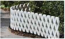 "Fence 4 Piece Inter-Locking Garden Lattice Fencing 93.5"" x 8.5"" Stakes Interlock"