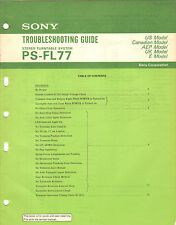Sony PSFL77 Troubleshooting Guide Original Repair stereo turntable record player