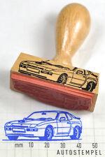 Porsche 924 - Stempel mit Holzgriff - rubberstamp