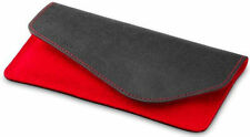 Cooler Master Leather Wool Felt Sleeve Pouch for Micromax Canvas Knight A350 Red
