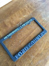 Henderson Las Vegas Ford Country License Plate Frame