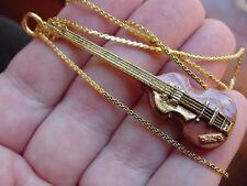 (M-225-C) HOFNER CAVERN LEFT HAND BASS GUITAR NECKLACE Beatles love guitars