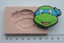 SILICONE MOULD TEENAGE MUTANT NINJA TURTLES   ICING CAKE CARD TOPPER FIMO