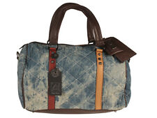 AB Collezioni Regina Donna Denim Design Borsa A Tracolla - Blue NEW