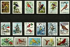 BIRDS OF NORTH AMERICA, AMAZING SELECTION OF 17 DIFFERENT MNH CINDERELLAS