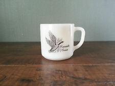 Vtg Federal Canada Goose Canvasback Duck Milk Glass Coffee Mug Tea Cup D Handle