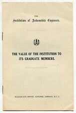 """1920s Paper UK Auto Collection: """"Institute of Automobile Engineers"""" - 7 Items"""