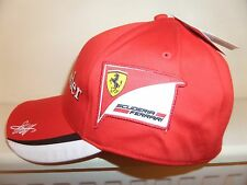 PUMA FERRARI F1 VETTEL FITTED DRIVER CAP HAT MOTORSPORT RACING TEAM PIT CREW