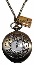 "ALICE In The WONDERLAND Drink Me Charm Pendant Watch on 30"" Chain"