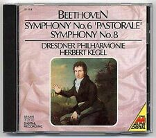 Beethoven CD Symphony 6 + 8 Kegel 1st press JAPAN !!