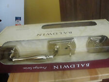 Baldwin Wesley Single Cylinder Polished Brass Handleset